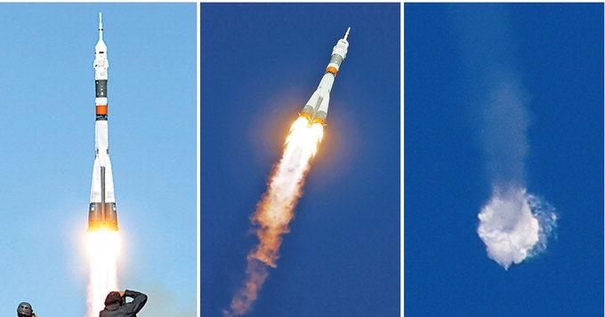 러'소유스'우주선, 엔진 고장 추락…우주인 2명 비상착륙 무사