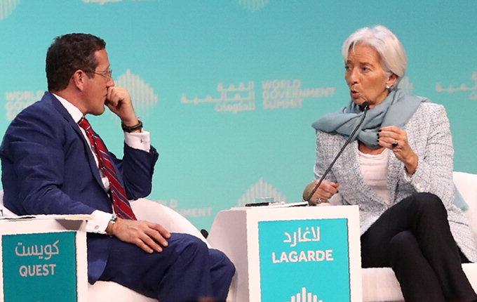 라가르드 IMF총재'세계 경제폭풍' 경고