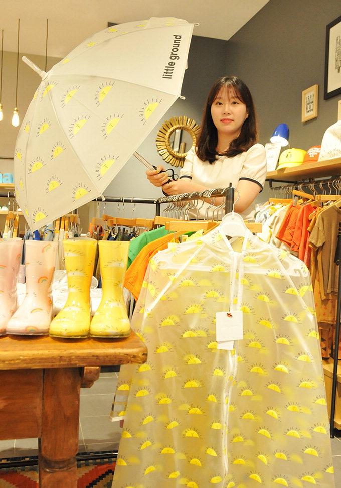 LED 라이트 달린 아동용 우산