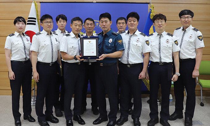 문경경찰서 교통관리계 3회 연속 '베스트 교통경찰'