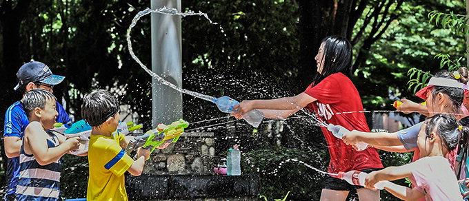 물싸움으로 폭염 탈출