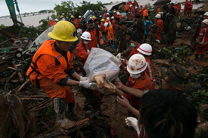 中·미얀마서 물난리·산사태로 90명 사망 실종