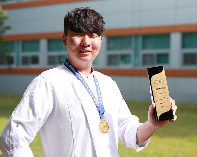 대구가톨릭대 조리외식경영학과 2학년 현동훈씨, 디포인덕션 요리대회 '수비드' 우승