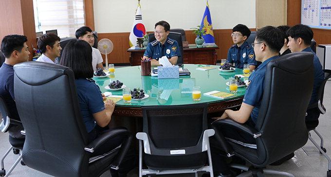 이승렬 성주경찰서장, 신임경찰관과 공직기강 간담회