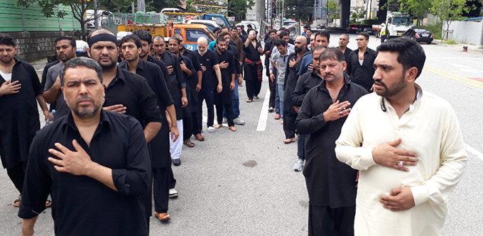 대구서 이슬람 성인 후세인 일가 추모행사