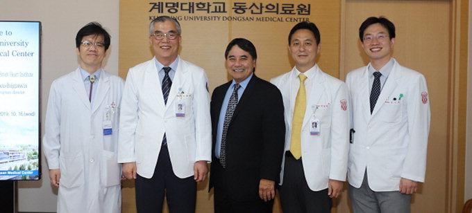 미국 심장이식 전문가, 동산병원 방문