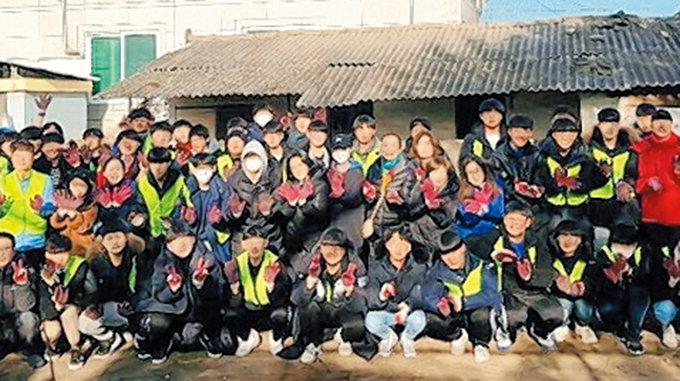 예천 대창고 봉사동아리 등 70명, 연탄·쌀 나눔 봉사
