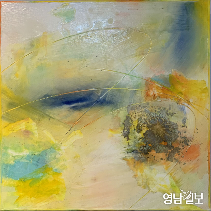 권소현_-_리듬,_mixedmedia_on_paper,_45x45(cm),_2020