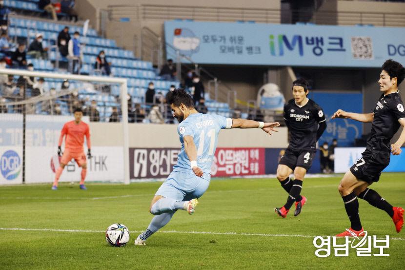 안타깝게도 홈 2 연패 … 대구 FC, 성남 홈에서 0-0 무승부