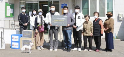 경일대 보건예체능 계열 학생회, 직접 제작한 소독제 기부
