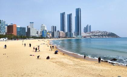 [김찬일의 방방곡곡/길을 걷다] 동백섬 해파랑 길, 도시 빌딩과 공존하는 푸른 바다…'여름날의 수채화'
