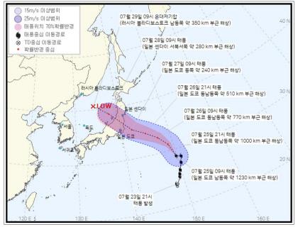 일본 도쿄 관통 예상되는 제8호 태풍 네파탁, 한국 미칠 영향은