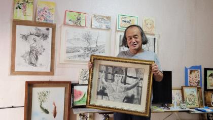 독학으로 배운 그림 ...20년 이력 샤프펜슬 화가 이성호씨