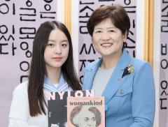 영화'벌새' 주연배우 동문고 박지후, 대구시교육청 방문 姜교육감과 대화