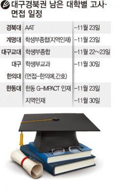 대구경북권 남은 대학별 고사·면접 일정