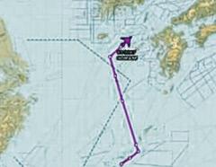 美 핵탐지 특수정찰기 동해 비행