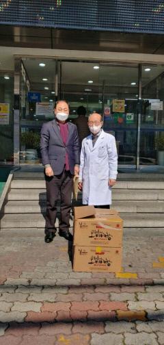 농식품 유통경영연구원, 대구 동부허병원에 간식 전달