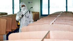 대구 동부도서관 방역하는 2작사 화방생대대 장병