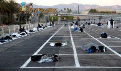 미국 노숙인들도 거리두기