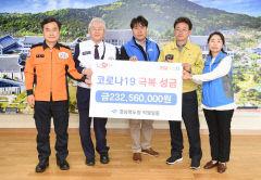 경북도청-의회사무처-소방본부 등 직원일동, 코로나19 극복성금 2억3천여만원 기탁