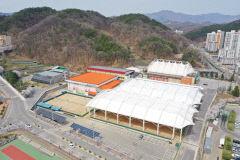 문경국제소프트테니스장 실외 경기장 4면 추가 돔 시설 설치