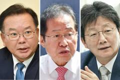 홍준표VS유승민VS김부겸 TK 목장의 결투...'차기 대권 놓고 정치생명 걸어