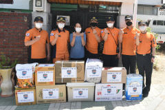 대구동부소방서, 화재 피해 주민에 생계지원 구호물품 전달