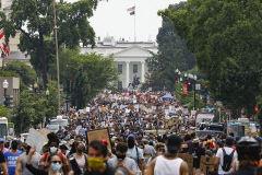 워싱턴DC서 수만명 평화시위…인종차별 철폐 촉구