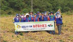바르게살기운동 대구 안심1동위원회 칠곡 농가 찾아 마늘수확 도와