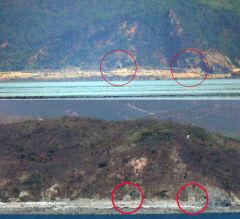 [포토뉴스] 닫혔던 북한 개머리해안 포문 열려