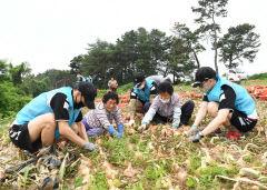 공군16전투비행단, 예천 유천면에서 일손돕기 활동 펼쳐
