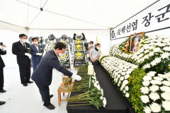 경북도의회 의장단, 고 백선엽 장군 다부동 분향소 찾아 조문