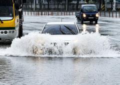 [포토뉴스] 물잠긴 도로