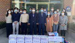 경북농민사관학교 임직원, 군위 백송한마음요양원 방문 위문품 전달