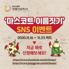 영주시, '인삼엑스포' 마스코트 이름짓기 SNS 이벤트