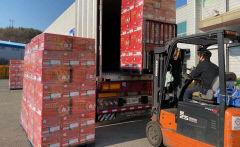봉화사과, 대만 수출 선적…올해 150t 수출