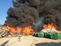 안동 광역쓰레기매립장에 불…장비 15대 투입 진화 중(종합)