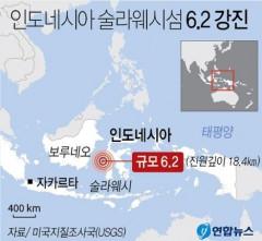인니 술라웨시섬 6.2 강진…최소 30명 사망·600명 부상