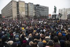 러시아서 '나발니 석방' 촉구 시위