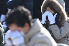 [포토뉴스] 대구지하철참사 18주기 추모식, 그저 눈물만