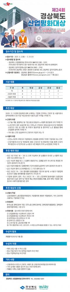 제24회 경상북도 산업평화대상 선정공고
