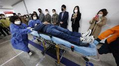 [포토뉴스] 화이자 백신 접종 모의훈련