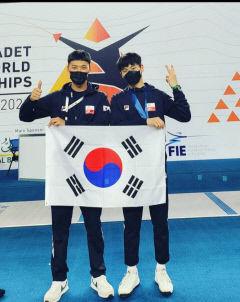 오성고 박준성, 펜싱 세계선수권 유소년부 준우승
