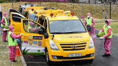 [포토뉴스] 어린이집 차량 방역 봉사