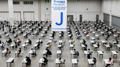 [포토뉴스] 코로나19시대 신입사원 채용 시험장 풍경