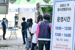 [포토뉴스] 두류공원야구장 코로나19 임시선별검사소 운영 재개