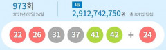 973회 로또 1등 8게임...당첨금 각각 29억1천274만원
