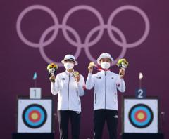 [도쿄 올림픽] 양궁막내 김제덕·안산 대한민국 첫 금메달...혼성전서 네덜란드에 역전승