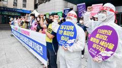 [포토뉴스]  보건의료노조 총파업을 지지하는 대구 노동시민사회단체
