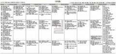 9월20일(월) TV 편성표